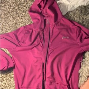 Asics zip up hoodie